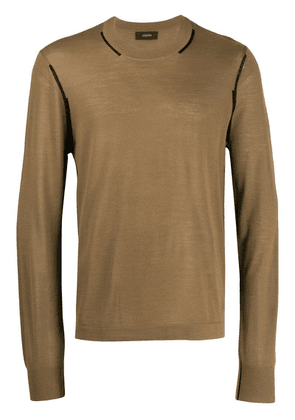 Joseph crew neck sweater - Brown