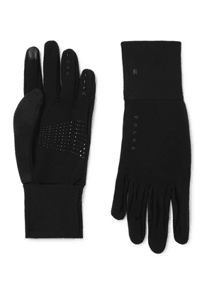 FALKE Ergonomic Sport System - Brushed Stretch-jersey Gloves - Black
