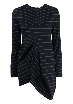 Chalayan striped print knitted top - Blue