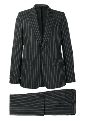 Givenchy logo pinstriped suit - Black