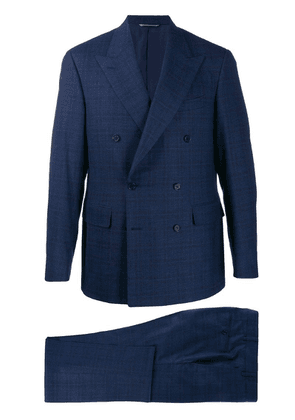 Canali two-piece double-breasted suit - Blue