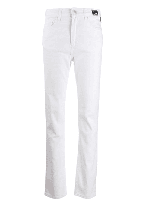 Versace Jeans slim fit trousers - White