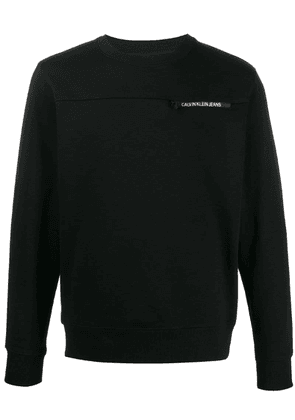Calvin Klein Jeans logo patch sweatshirt - Black