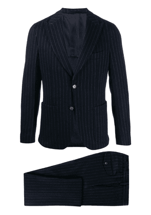 Eleventy single-breasted pinstriped suit - Blue