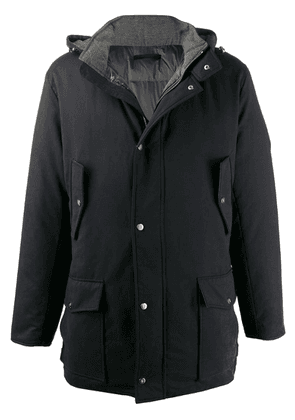 Eleventy hooded padded jacket - Blue