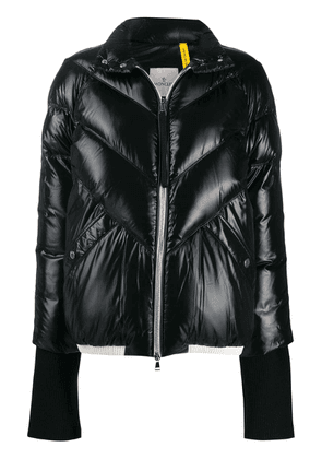 Moncler long sleeve padded coat - Black