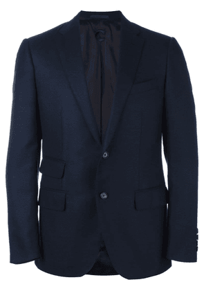 Caruso flap pocket blazer - Blue