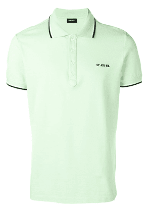 Diesel polo with coloured trim collar - Green