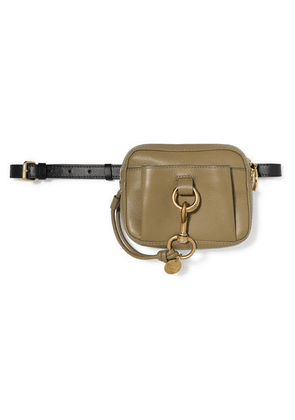 See By Chloé - Tony Two-tone Textured-leather Belt Bag - Green