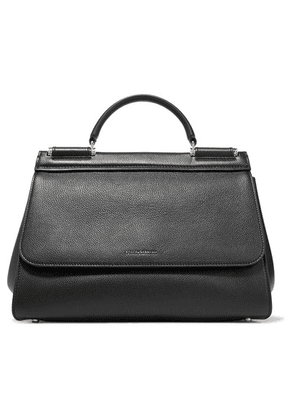 Dolce & Gabbana - Sicily Medium Textured-leather Tote - Black