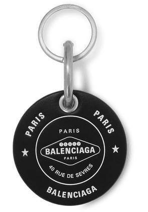 Balenciaga - Casino Printed Leather Keychain - Black