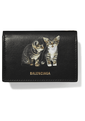 Balenciaga - Ville Mini Printed Leather Wallet - Black