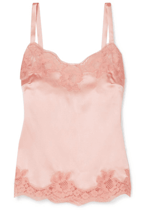 Dolce & Gabbana - Lace-trimmed Silk-blend Satin Camisole - Pink