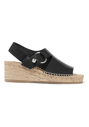 rag & bone - Arc Leather Espadrille Wedge Sandals - Black