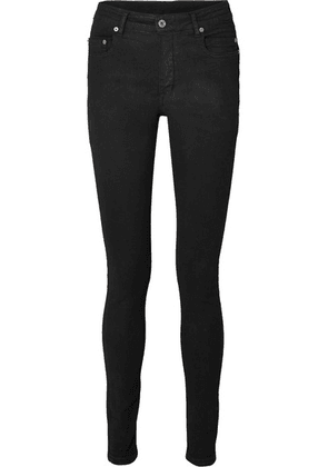 Rick Owens - Coated High-rise Skinny Jeans - Black