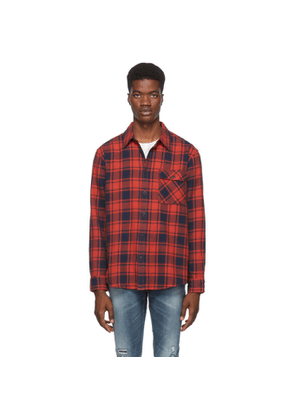 Nudie Jeans Red and Black Flannel Check Sten Shirt