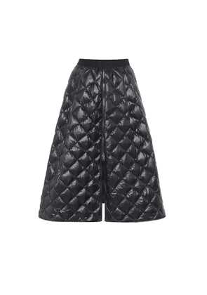 Quilted down midi skirt