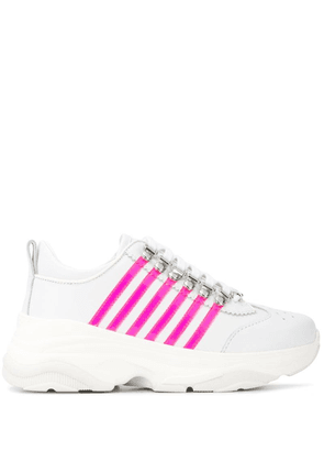Dsquared2 leather panelled sneakers - White