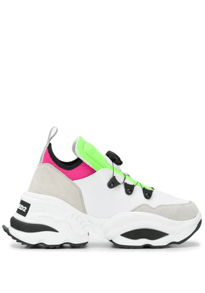 Dsquared2 panelled leather sneakers - White