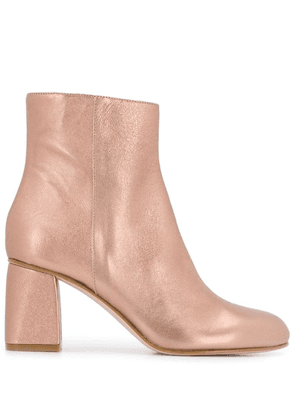 Red Valentino RED(V) metallic ankle boots - Pink