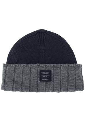 Hackett Aston Martin Racing beanie hat - Blue