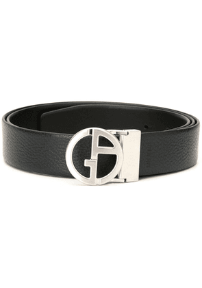 Giorgio Armani logo buckle belt - Black