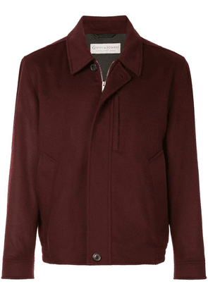 Gieves & Hawkes boxy shirt jacket - Red