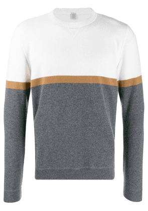 Eleventy two tone fine sweater - White