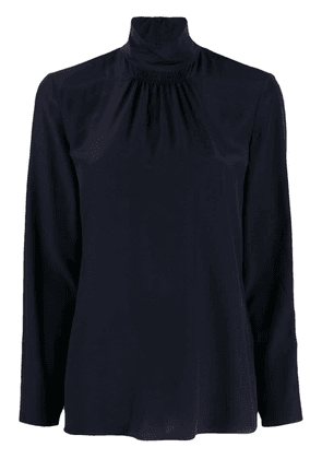 Red Valentino gathered detail turtleneck blouse - Blue