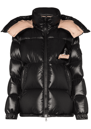 Moncler Wilson logo patch puffer jacket - Black