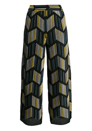 M Missoni ribbed knit cropped trousers - Black