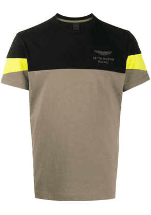 Hackett colour-block T-shirt - Green