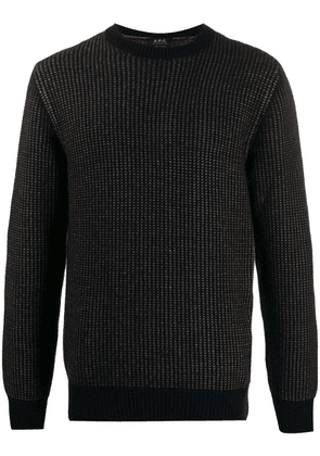 A.P.C. two-tone knitted jumper - Blue