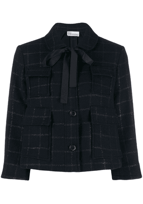 Red Valentino checked cropped jacket - Blue