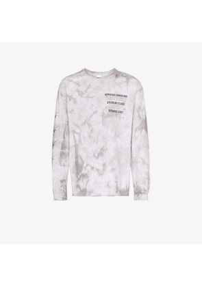 Services Unknown X Browns East X Stain Shade tie-dye logo T-shirt