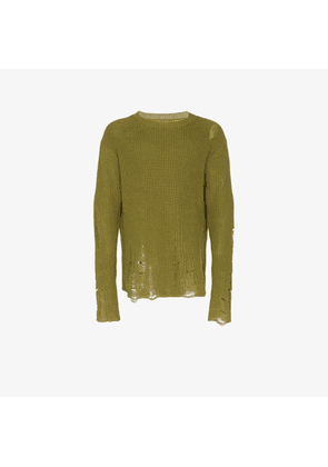 Song For The Mute distressed knitted jumper
