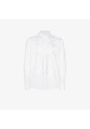 Dries Van Noten Coven embroidered button-down cotton shirt