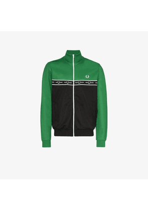 Fred Perry logo tape colour block track jacket