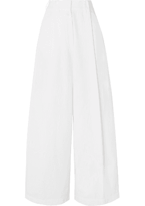 Dries Van Noten - Cotton-twill Wide-leg Pants - White