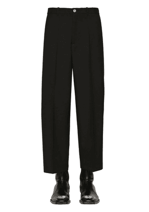 Cropped Wool Gabardine Trousers