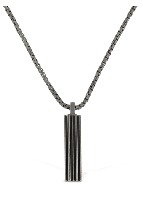Long Chain Enameled Necklace