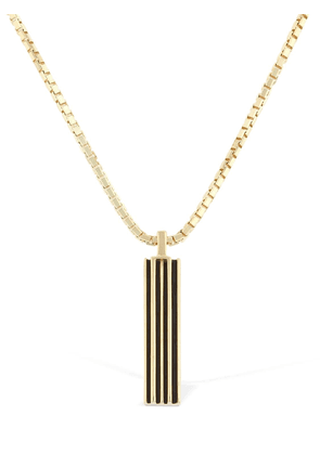 Enameled Long Chain Necklace