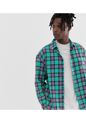 COLLUSION oversized check shirt