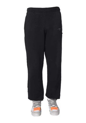 off-white 'unfinished' jogging pants