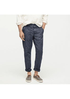 Wallace & Barnes military camp pant in railroad broken twill
