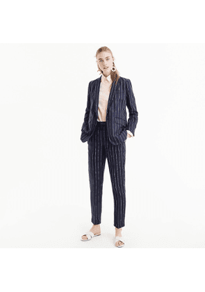 Boy blazer in pinstriped linen