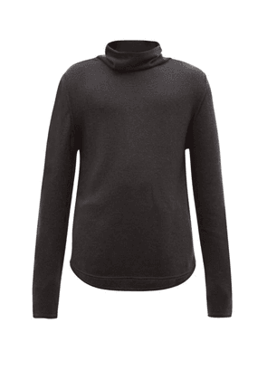 Denis Colomb - Funnel Neck Cashmere Sweater - Mens - Charcoal