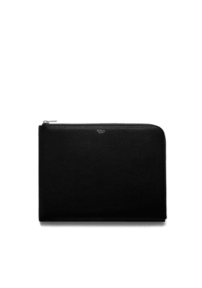 Mulberry Tech Pouch in Black Small Classic Grain