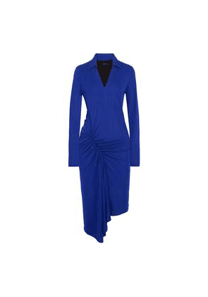 Atlein Ruched Stretch-jersey Dress Woman Royal blue Size 38