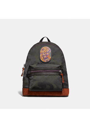 Coach Academy Backpack With Wild Beast Print And Kaffe Fassett Patch